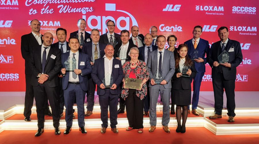 The 2019 International Awards for Powered Access (IAPAs) Winners, in Dubai, UAE